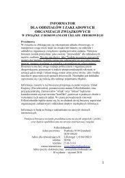 informator dla oddziałów i zakładowych ... - Fellesforbundet