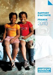 RAPPORT DLACTIVITÉ FRANCE - Handicap International