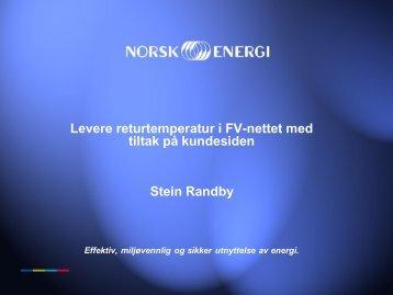 Lavere returtemperatur i fjernvaremnett med ... - Norsk Fjernvarme