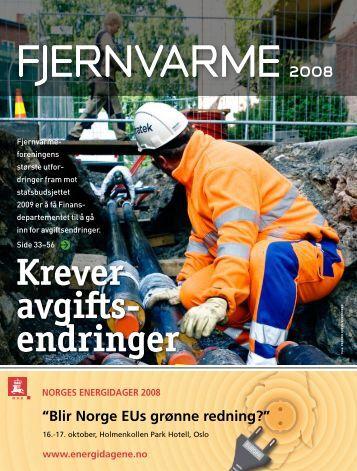 Krever avgifts- endringer - Norsk Fjernvarme