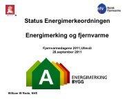 Energimerkeordningen – status og endringsløp - Norsk Fjernvarme