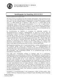 Handlingsplan for likestilling 2010 - 2013 (pdf) - Det teologiske fakultet