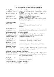Kirkens advents- og juleprogram 2011 - kirkene i Kragerø