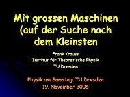 Material zum Vortrag (7,7 MB pdf-Datei - Physik am Samstag