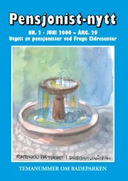 NR. 2 - JUNI 2000 – ÅRG. 20 Utgitt av pensjonister ... - Pensjonist-nytt