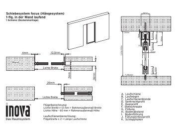 focus systemzeichnung schiebet ren h ngesystem focus inova. Black Bedroom Furniture Sets. Home Design Ideas