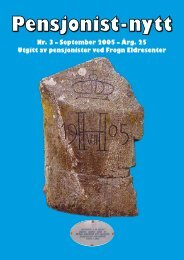 Nr. 3 – September 2005 – Årg. 25 Utgitt av ... - Pensjonist-nytt