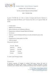 Verbale del 27 marzo 2006 (pdf) - Scuola di Dottorato in Ingegneria