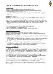 Sak 31/13 - Regionrådet for Hallingdal