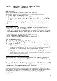 Sak 56/11 - Regionrådet for Hallingdal