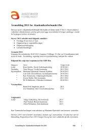 Årsmelding 2011 for Akademikerforbundet Øst