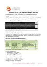 Årsmelding 2010-2011 - Akademikerforbundet