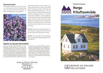 Brosjyre Horgo.indd - Bergen og Omland Friluftsråd