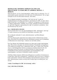 referat fra årsmøte i bergen og omland friluftsråd 18. mars 2002, på ...
