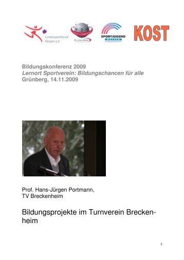 Vortrag Prof. Hans-Jürgen Portmann - Bildungsportal