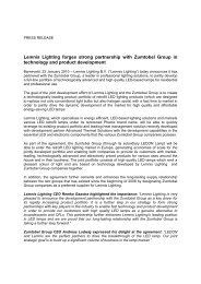 Lemnis Lighting forges strong partnership with Zumtobel Group in ...