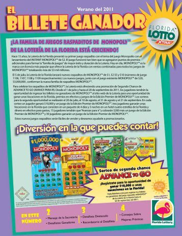 BILLETE GANADOR - The Florida Lottery