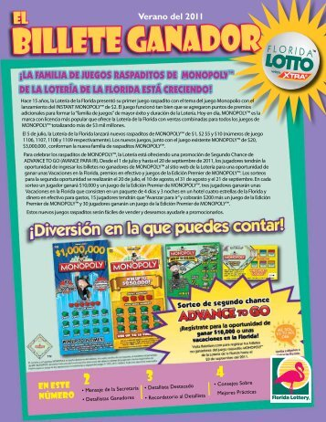 BILLETE GANADOR - The Florida Lottery