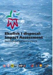 Impact Assessment Environmental and Societal Impacts