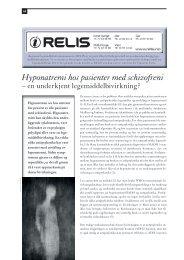 RELIS - Hyponatremi hos pasienter med schizofreni - en ... - Utposten