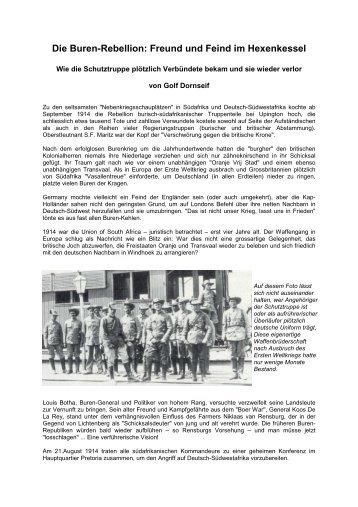 Die Buren-Rebellion - Freund und Feind im ... - Golf Dornseif