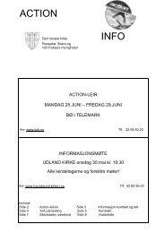 ACTION info brosjyre - Haugesund Kirke - Den norske kirke