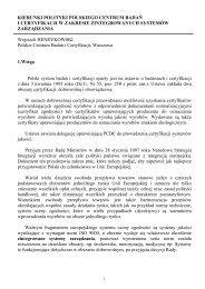 Kierunki Polityki Polskiego Centrum Badań I Certyfikacji w zakresie ...