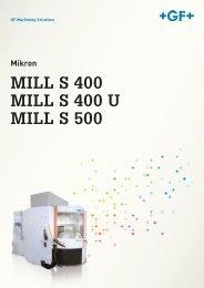 MILL S 400 MILL S 400 U MILL S 500 DE