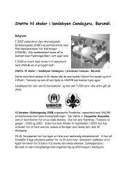 Støtte til skoler i landsbyen Cendajuru, Burundi. - St. Georgs Gildene ...