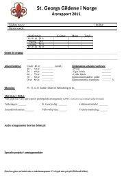 Årsrapport for gilder - St. Georgs Gildene i Norge