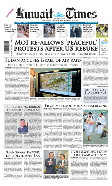 Moi Re Allows Peaceful Protests After Kuwait Times