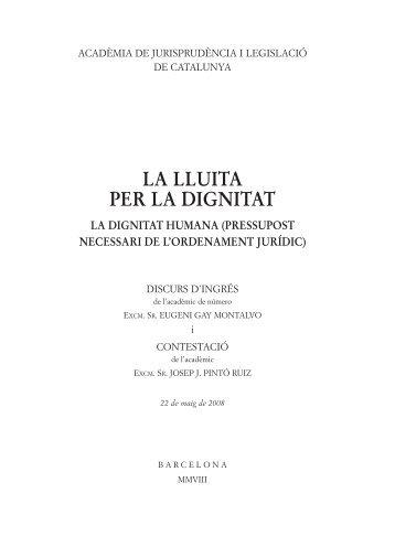 2008, GAY MONTALVO, Eugeni - Acadèmia de Jurisprudència i ...