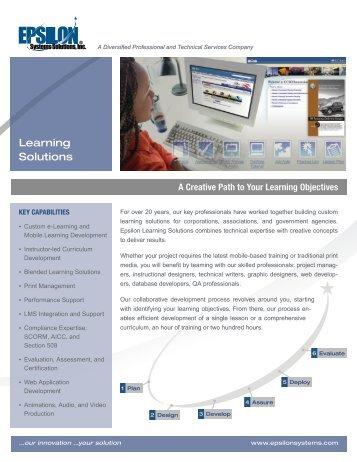 Learning Solutions Datasheet - Epsilon Systems Solutions, Inc.