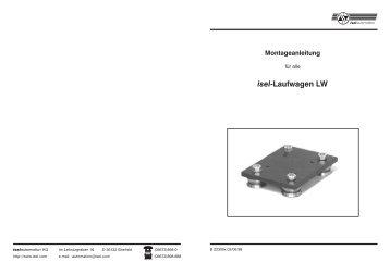isel-Laufwagen LW