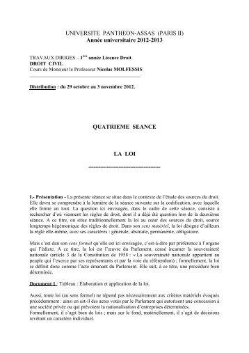Fiche 4 - Droit des obligations 2013-2014