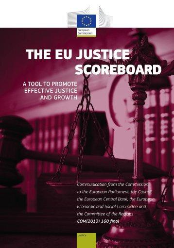 The eU JUsTice scoreboard - European Commission - Europa