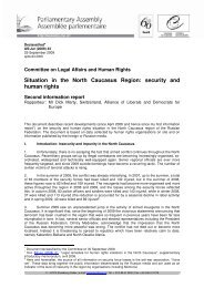 Situation in the North Caucasus Region: security and human rights