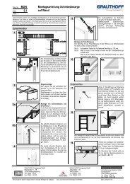 5.1 Montageanleitung Schiebetürzarge auf Wand - Grauthoff