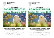 PÅSKEAFTEN-TUR lørdag 30. mars 2013 ... - Haugesund Kirke