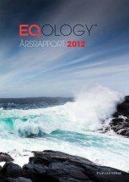 Årsrapport 2012 - Eqology