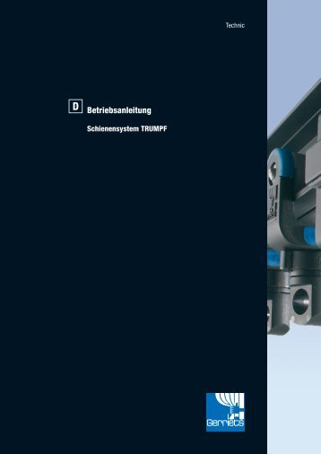 Betriebsanleitung Schienensystem TRUMPF - Gerriets