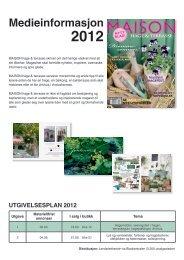 Medieinformasjon 2012 - Schibsted Forlag