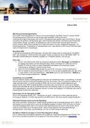 Februar 2009 Økt fokus på forretningsreisende Som meldt i ... - SAS