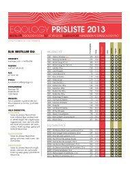 eQology prisliste 2013