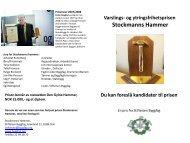 Varslings- og ytringsfrihetsprisen Stockmanns Hammer Du kan ...