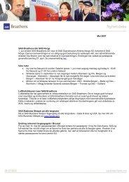 Mai 2007 SAS Braathens blir SAS Norge 1. juni endrer SAS ...