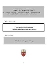 ZADÁVACÍ DOKUMENTACE - Nalžovské Hory
