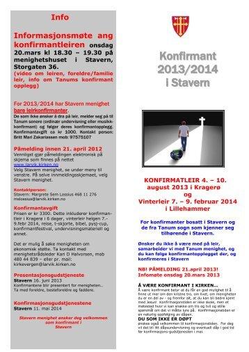 Informasjons brosjyre om 2014 kullet i Stavern - Larvik kirkelige ...