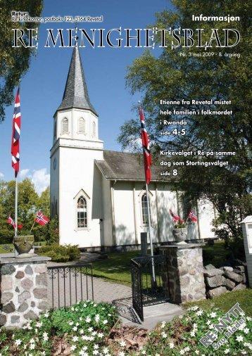 RE-NYTT - Re kirkelige fellesråd - Den norske kirke