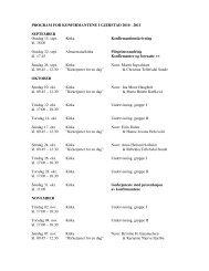PROGRAM FOR KONFIRMANTENE I GJERSTAD 2010 - 2011 ...